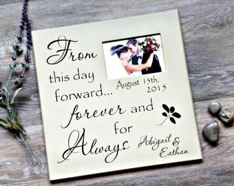Personalized Wedding Frame, Couples Wedding Frame, Anniversary Gift, Wedding Gift, Custom Wedding Frame, Housewarming Gift, Gift for Her