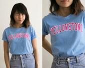 Yellowstone National Park Novelty Shirt / Collectors VTG Graphic Tee / 90s Grunge Womens Cotton Shirt Short Sleeve Top / Crewneck crew neck