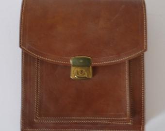 French vintage sack messenger backpack cross body leather-backsack-ipad case-