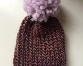 newborn baby Pom Pom hat. First sized, Newborn photo prop, baby shower, Christmas gift