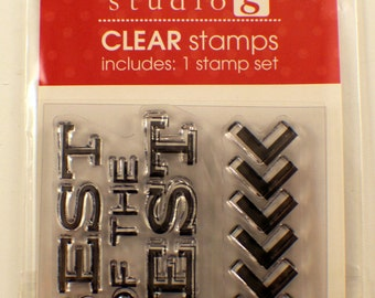 Best of the Best Arrow Studio G Clear Cling Rubber Stamp