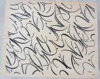 Judi Kins 2148 J Whimsical Flirty Background Swirls Wooden Rubber Stamp