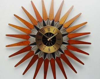 Mid century Starburst Wall Clock by Seth Thomas