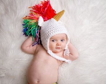 Made to Order, Crocheted Unicorn Hat