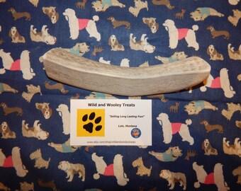 "Organic Large Elk Antler Dog Chew Split ""Made in Montana"" (Lot J21)"
