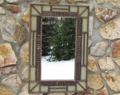 Adirondack Twig Mirror with Sage Crackle Finish