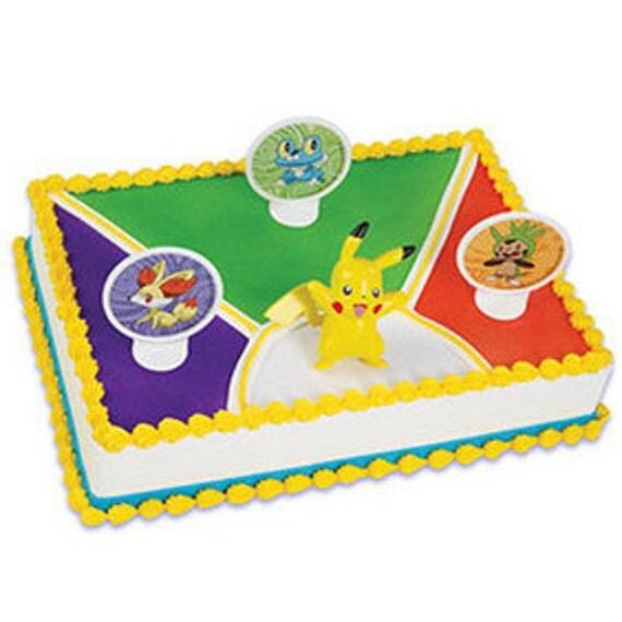 Pokemon light up pikachu cake kit cake decoration - Decoration gateau pokemon ...