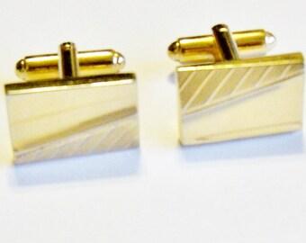 Vintage Cuff Links Gold Tone Wedding Cufflinks Jewellery Accessories Groom Groomsmen Gift Guide Men