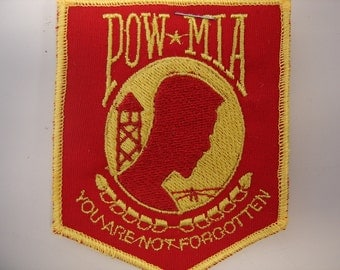 pow/ mia red and gold patch