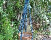 Denim 47 Inch Beads Macrame Plant Hanger