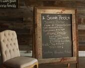 Custom 48x30 sandwich board chalkboard
