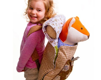 2 in 1 Sleeping Bag Backpack PDF Pattern, Custom Backpack for Fletcher Fox, Forest Frolic Fabrics, Beginner Sewing Pattern