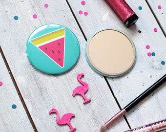 Pocket Mirror | Watermelon Mirror | Colourful Mirror | Make Up Mirror | Watermelon Pocket Mirror