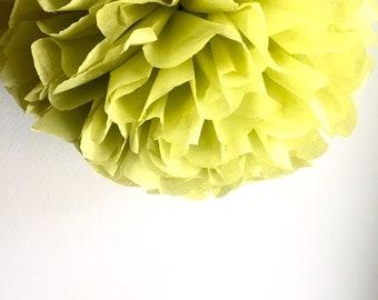 1 Pistachio Tissue Paper Pom Pom, Paper Poms, Wedding tissue paper poms, paper pom poms, tissue flowers, birthday party decor