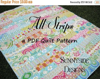 Strip Quilt Pattern All Strips Fat Quarters Striped Easy Simple Quick Throw Twin Size Striped Quilting Sewing PDF Instand Upload