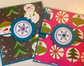 Christmas giftcard holders (2) santa gingerbread man