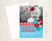 Perfect Poppi Custom Birthday Invitation