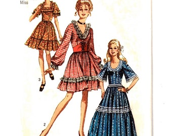 Simplicity 8875 Sz 10 Vintage Western Pioneer Dress Costume, Square Dance Misses Uncut Pattern