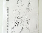 1960s Spadea 12B Duchess of Windsor Designer Dress Belt and Cape Womens Sewing Pattern Draped Surplice Bodice Misses Bust 34 UNCUT FF