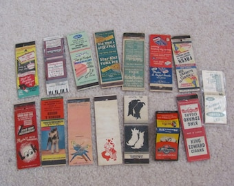 Lot of 15 Assorted Vintage Antique Older Matchbook Matches Covers (#3)
