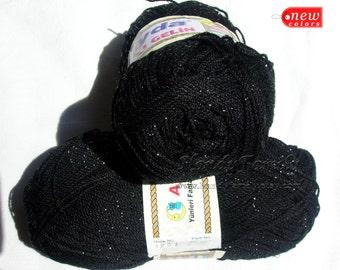 Ayda Zincir Type: Glitz and Glitter Yarn Glitzy Glamour Yarn shining yarn, sparkling yarn Hypoallergenic Yarn color black