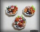 Christmas cookies, 12th scale miniature food, dollhouse christmas