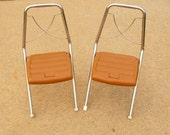 Kids Chairs: Retro Folding Chairs, Chrome Plastic Seats