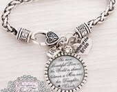 Mother of Bride Gift from Bride, Personalized Wedding Bracelet, The most beautiful love,Wedding Day Jewelry-Gift Mother of Bride- daughter
