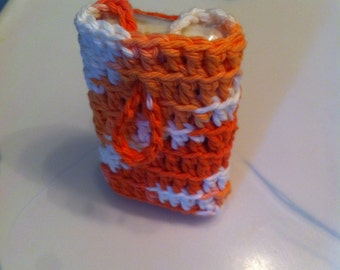 Handmade Soap in Crocheted Soap Saver Pouch