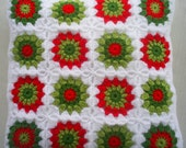 Cushion cover in red and green