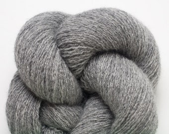 Lace Weight Recycled Cashmere Yarn, Heather Gray Cashmere Lace Weight Recycled Yarn, 423 Yards Available