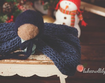 baby boy bonnet knit ties made to order newborn photography prop soft baby alpaca tan oatmeal navy blue