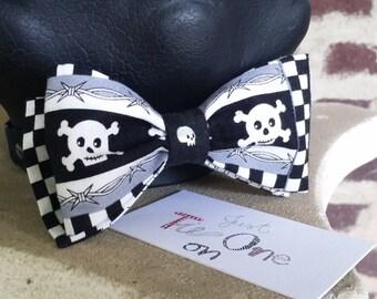 Skull Bow Tie
