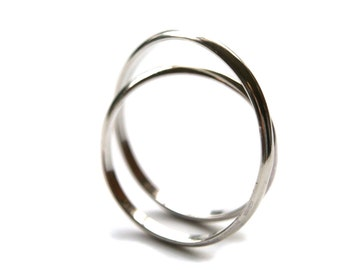 Eccentricity Ring Sterling Silver