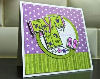 Arigato Thank You Card, Japanese Thank You Note, Kimono Card