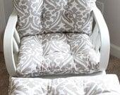 Custom Chair Cushions/ Glider Cushions/ Rocking Chair Cushions/ Ottoman cushion/ Glider Replacement Cushions