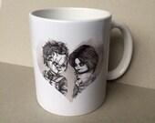 Chucky & Tiffany Mug inspired Original Hand Drawn Fan Art Valentines Day