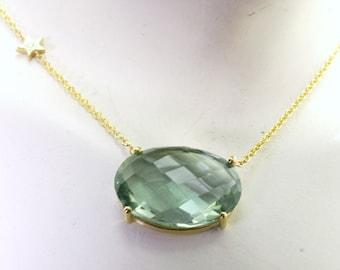 Green topaz pendant.
