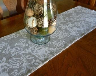 Fall Table Buffet Runner, Brown, Cream 15 x 56 inches Autumn Thanksgiving Halloween. Wedding, Shower, Dining