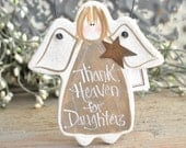 Daughter Gift Salt Dough Ornament / Christmas  / Birthday Gift for Daughter