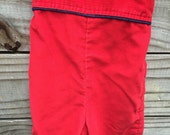 Vintage Royal Red Healthtex Racecar Overalls - 12M