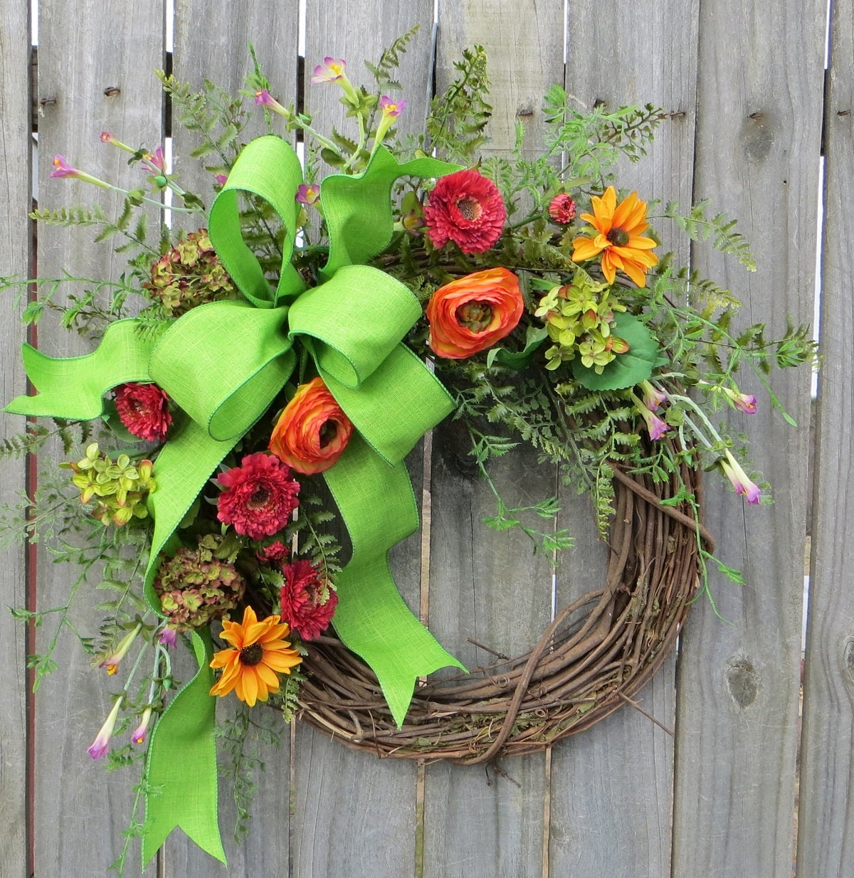 Spring Wreath Easter Wreath Floral Wreath Designer Floral |Spring Flower Wreath