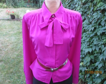 Buttoned Blouse / Blouse Magenta / Big / Large Blouse / Womens Blouse Large / Big Size WomanBlouse / Blouse Size EUR48 / 50 / UK20 / 22