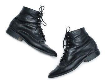 Leather Ankle Boots - Size 7