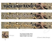 Starfish Sandy Beach Banner Photo - Etsy Banner & Shop Icon - You pick 1 of 3 Designs - Custom Banner with Your Shop Name