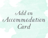 Accommodation Card (Set of 25) | Add-on matching design