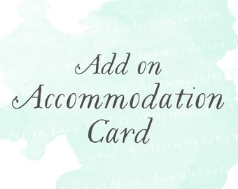 Accommodation Card (Set of 25)   Add-on matching design