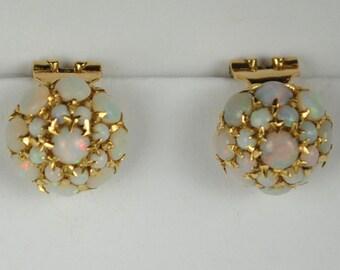 18kt Opal Earrings