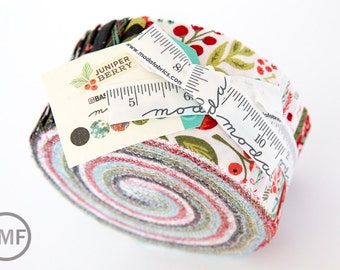 Juniper Berry Jelly Roll, BasicGrey, Moda Fabrics, Pre-Cut Fabric Strips, 30430JR