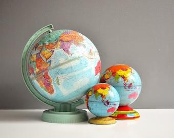 Vintage Petite World Scholar Replogle Globe